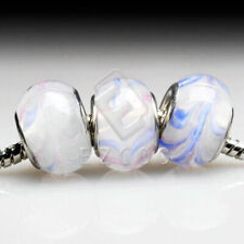 5pcs Murano Glass European Spacer Beads Lampwork Charm Fit Bracelet Chain LB0069