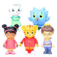Daniel Tiger's Neighborhood Friends 5 PCS Action Figures Cake Topper Gift Toys