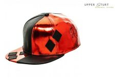 Batman Harley Quinn PU Suit Up Snapback Cap with Applique Diamonds FREE DELIVERY