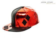 Batman Harley Quinn PU Suit Up Snapback Cap with Applique Diamonds 17b9e3c07c2e