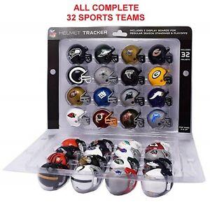 NFL Mini Football Helmet, AFC Super Bowl Set, NFC Playoff And Standings Tracker