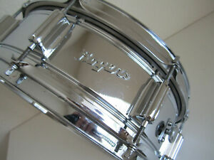 Vintage Rogers 1970s Powertone Chrome Over Brass 5x14 Snare Drum Fullerton Ca