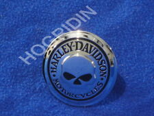 Harley softail touring  flhr willie g skull gas fuel tank cap cover medallion