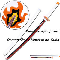 Demon Slayer Kimetsu no Yaiba Rengoku Kyoujurou Sword+Belt Weapon Handheld Prop