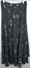 Sundance Silk Floral Maxi Elastic Skirt Size 4