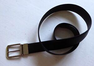 Ermenegildo Zegna man's black leather belt 38 inch