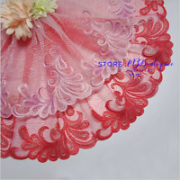 Floral Tulle Lace Trim Ribbon Flower Embroidery Fabric Wedding Trim Sewing FP238