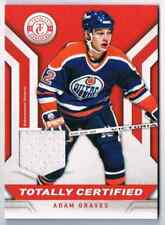 2013-14 TOTALLY CERTIFIED JERSEY RED ADAM GRAVES JERSEY 1 COLOR EDMONTON OILERS
