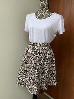 Dangerfield Sz 6 Floral A Line Skater Skirt Fits AU 6 8