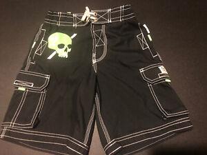 NWT GAP Boys Navy Skull Swim Trunks Board Shorts Small 6-7 Reg $25