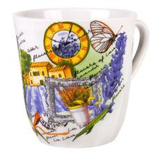 Porcelain Mug with Lavender de Provence Print Made in Dulevo Russia 12 fl oz