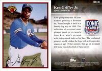 2019 Topps Update KEN GRIFFEY JR Iconic Card Reprint Insert Mariners #ICR-46
