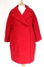 £2255 Giambattista Valli Red bouclé oversized coat 40/ XS