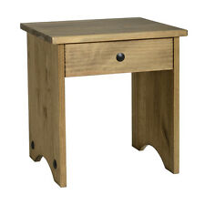 Corona Dressing Table Stool Distressed Waxed Pine