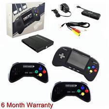 Retro Duo Portable Nintendo SNES & NES Console V2.0 + 2x RDP Controllers Black