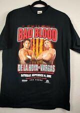 Bad Blood 2002 De La Hoya VS Vargas Shirt L Las Vegas Boxing Souvenir Deadstock