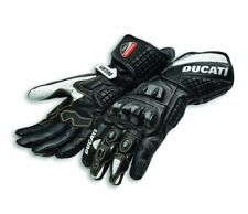 Ducati Corse C3 Motorcycle Gloves 2018, Black & White, 981042035, Size Large