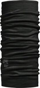 Buff Lightweight Merino Wool Multifunctional Headwear - Black, One Size
