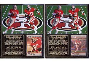 Joe Montana #16 Jerry Rice #80 San Francisco 49ers Photo Card Plaque