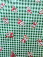 RPFNTX4C Japanese Asian Kitty Kittens Vintage Cats Kitschy Cotton Quilt Fabric