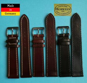 XS Cordovan Shell Horween Uhrband 17,18,19 20mm 2.WAHL schwarz braun Galopper 43