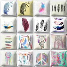 Feather Dream Catcher Print Throw Pillow Case Cover Cushion Home Decor Novelty
