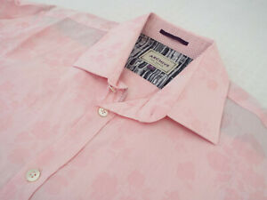 """TED BAKER Mens Shirt 🌍 Size 16"""" (44"""" CHEST) 🌎 RRP £65-129+📮 FLORAL JACQUARD"""