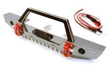 RC Car C26992GUN Realistic Scale F Bumper w/LED Lights for Axial 1/10 SCX10 II