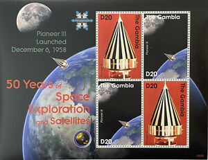 GAMBIA 50 YEARS OF SPACE EXPLORATION AND SATELLITES STAMPS 2008 MNH PIONEER III