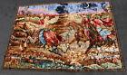 Vintage 1001 Arabian Nights Romance Velvet Plush Rug Wall Art Carpet Tapestry