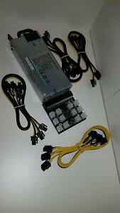 DPS-1200FB 1200W Server Mining PSU w/ Breakout Board & 12x6+2 pin Cables UK