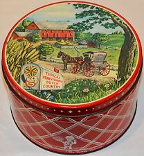 Vintage Food Advertising Tin Cannister Billy's Bretzels Pennsylvania Good Colors