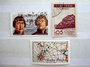 3 Einzelmarken KAPVERDEN - Kapverdische Inseln - 1948 und 1952