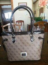 GUESS brown multi handbag