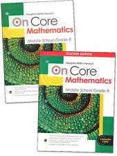 8th Grade On Core Mathematics Student Teacher Edition Curriculum Homeschool 8