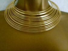 TOPSHOP GOLD LOOK METAL MULTI WIRE COLLAR NECKLACE NEW
