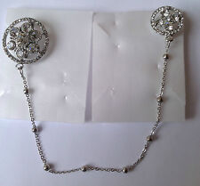 Diamante double Brooch With Chain d6