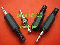 15 x 3.5mm Miniature Stereo Insulated Jack Plug