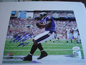Anquan Boldin Signed 8x10 Photo Baltimore Ravens JSA COA Autographed a
