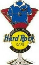 Hard Rock Cafe OSAKA CITYWALK 2002 World Cup Soccer MARTINI PIN Jersey HR #17865