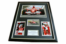 MICHAEL SCHUMACHER HAND SIGNED & FRAMED HUGE PHOTO DISPLAY AUTOGRAPH F1 & COA