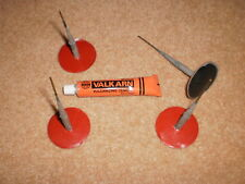 4 TYRE REPAIR PLUGS 6M WITH 50MM  PATCH AND 1 GLUE for all vans /cars