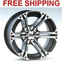 "(4) ITP SS212 Wheels Set Rims 12"" Wheel Kit Yamaha 550/660/700 Grizzly 4x4 02-19"