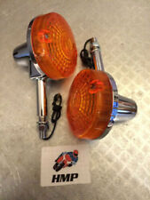 Luces y bombillas de indicadores de color cromo para motos