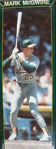 RARE MARK MCGWIRE A'S 1988 VINTAGE ORIGINAL DOOR SIZE STARLINE POSTER