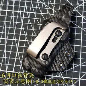EDC Titanium Alloy Back Clip Pocket Clip Camping Outdoor Pocket Tools