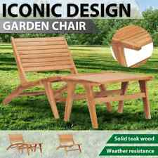 vidaXL Solid Teak Wood Garden Chair Outdoor Seating Wood with/without Footrest