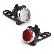 Ascher Rechargeable LED Bike Lights Set - Headlight Taillight Combinations LED