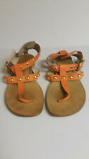 Trina Turk Orange Clementine Berkeley Thong Sandal sz 10M