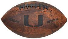"NCAA Miami Hurricanes 9"" Throwback Football"